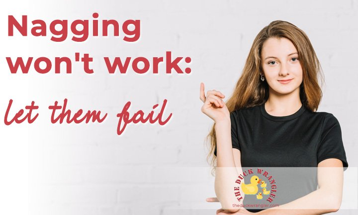 Nagging won't work - let them fail blog title overlay